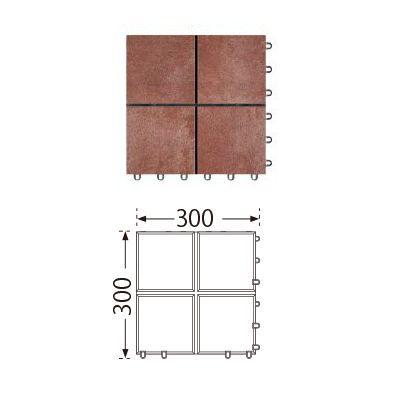 TOTO ベランダタイル バーセア MU03/150 ベイクアンバー [単品] 300角 ジョイントタイル バルコニー 屋外用 AP15MU03UFJ