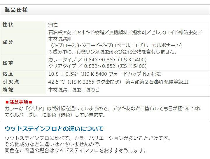 屋外木部保護塗料 スーパーウッドステイン(マホガニー) 16L ※法人限定 ※北海道・九州+600円