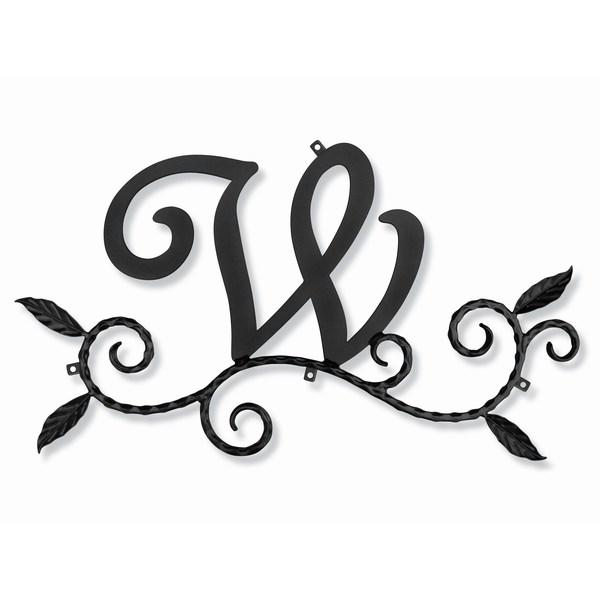 妻飾り 壁飾り [W] アルファベット (WA-K0W) ロートアイアン 日本製 ※北海道+1000円