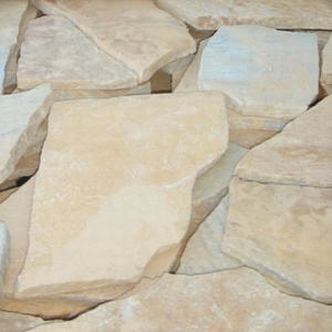 クォーツサイト 乱形石(イエロー) ブラジル産 厚み10〜25mm/1クレート/約9平米/約378kg 石英岩 敷石 【要-荷下し手伝】