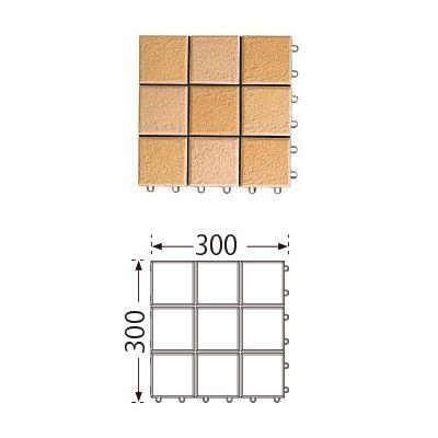 TOTO ベランダタイル バーセア MG01 サニーベージュ [10枚セット] 300角 ジョイントタイル バルコニー 屋外用 AP10MG01UFRJ