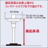 ウッドデッキ用 支持脚 112-164mm (PDT-130) 1セット60個入り