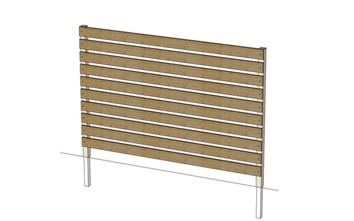 スチールパイプ60角 t=2.3mm (75角柱用) 60×60×300mm