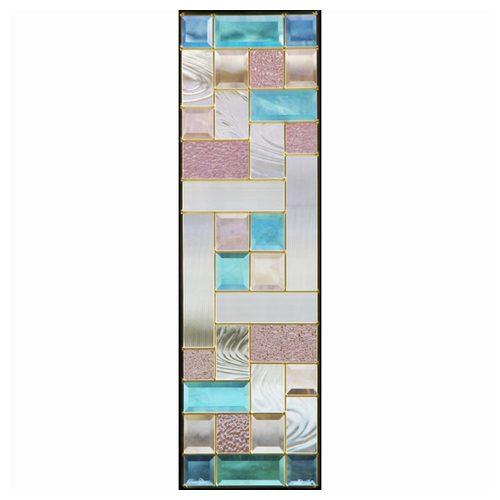 ステンドグラス (SH-C07) 927×289×18mm デザイン 幾何学 ピュアグラス Cサイズ (約8kg) メーカー在庫限り ※代引不可