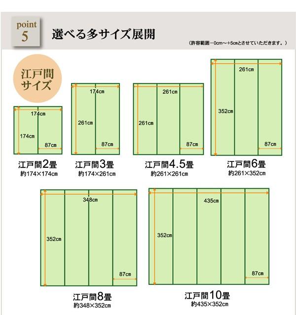 ラグ バルカン 江戸間3畳 (約174×261cm) い草風 PP 洗える 日本製