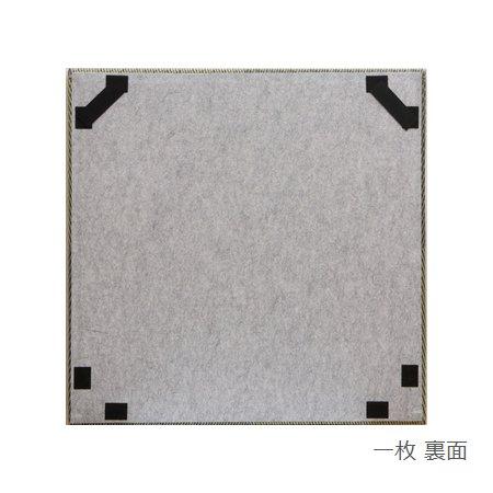 置き畳 縁なし シンプルノア ブルー 82×82×1.7cm (4枚セット) 軽量 ユニット畳 日本製 ※北海道・沖縄・離島+1650円