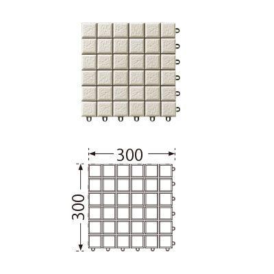TOTO ベランダタイル バーセア MN03 オフホワイト [10枚セット] 300角 ジョイントタイル バルコニー 屋外用 AP01MN03UFJ