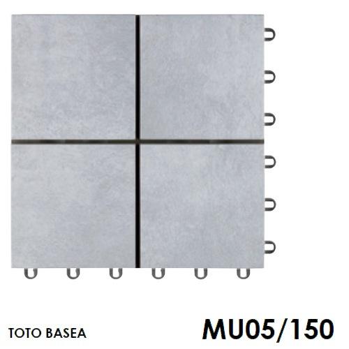 TOTO ベランダタイル バーセア MU05/150 ベイクグレー [単品] 300角 ジョイントタイル バルコニー 屋外用 AP15MU05UFJ