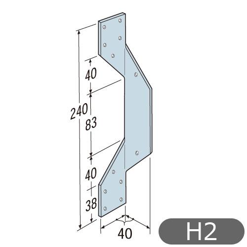 【在庫限り】シンプソン金具(SIMPSON) 型番H2