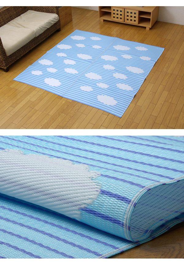 ラグ くも (174×174cm) PPカーペット 洗える 日本製 2101430