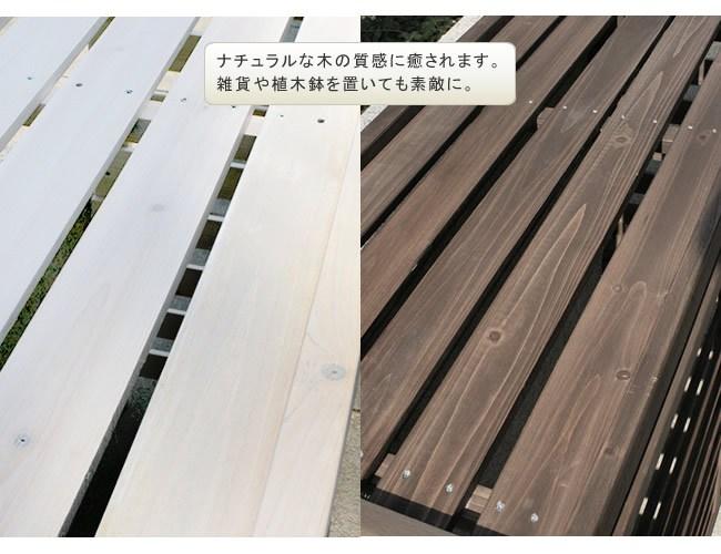 室外機カバー 大型 ホワイト 木製 JSAC-FL1100WH エアコンカバー ※北海道+2200円