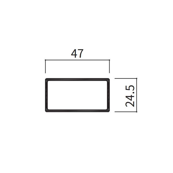 24.5×47角パイプ 24.5×47×1100〜2000mm