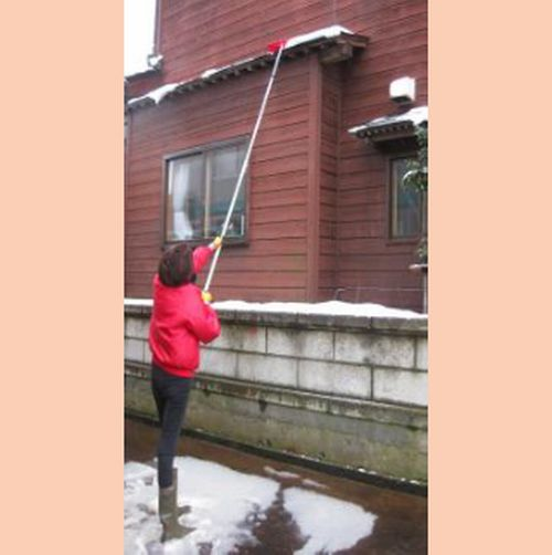 ひさし・屋根雪落とし(5.0m) 軒 屋根 カーポート つらら ツララ 除雪 雪きり 軽量 雪おろし 除雪道具