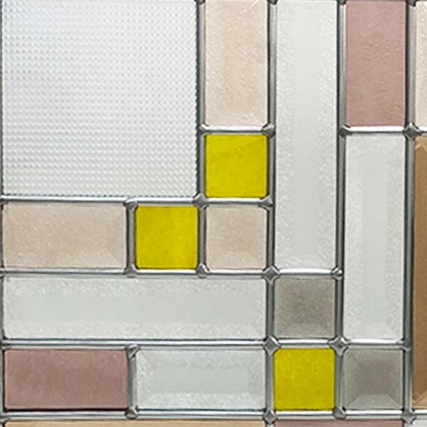 ステンドグラス (SH-E11色違い) 一部鏡面ガラス 300×300×18mm ピュアグラス (約3kg) メーカー在庫限り ※代引不可