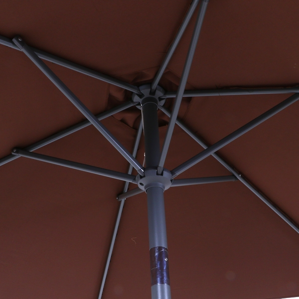 ガーデンパラソル アルミパラソル 240cm ブラウン 37852 (ベースは付属しません) ※北海道+800円