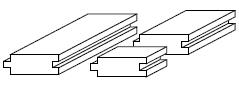 ホワイトオーク フローリング 無垢 ABグレード 無塗装 19×180×乱尺(〜1800mm) 【1ケース 1.62平米/5枚】