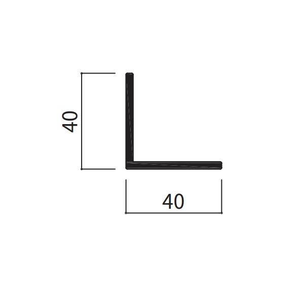 Lアングル t=3mm 40×40×100〜1000mm