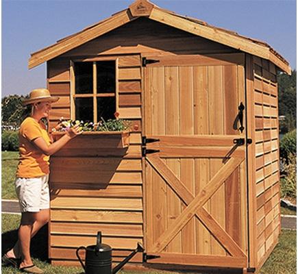 入荷未定 木製小屋 シダーシェッド社 ガーデナー (6×6type) 約3.3平米 1.0坪 木製物置 ※要荷降ろし手伝い