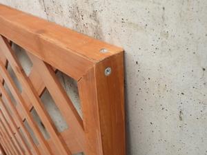 木製DIY ラティスフェンス ブラウン 900×1800mm (約4.5kg)(LT-N-90-180)