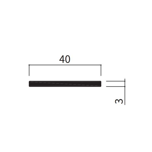 フラットバー 40×3×1100〜2000mm