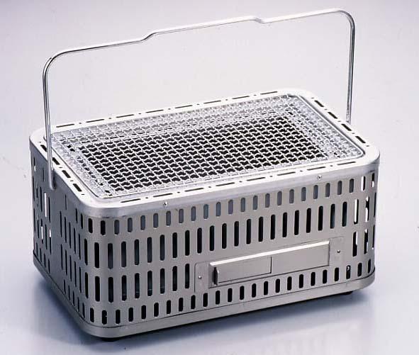 バーベキューコンロ 七輪 シチリン しちりん 卓上 角型 団炭 網付(フルサイズ) SC-392 焼き肉 BBQコンロ