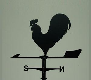 風見鶏 にわとり ステンレス製 黒つや消し KZSS-鶏 ※北海道・沖縄+1200円