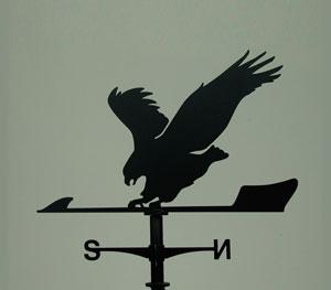 風見鶏 鷲 ステンレス製 黒つや消し KZSS-鷲 ※北海道・沖縄+1200円
