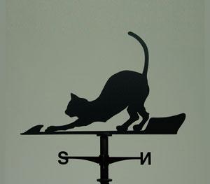 風見鶏 ホームサイズ 猫1 SSシリーズ KZSS-猫1-(A/B)