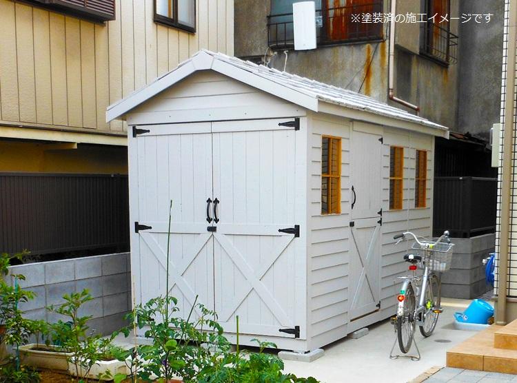 木製小屋 シダーシェッド社 ボートハウス (6×12type) 約6.4平米 1.9坪 木製物置 ※要荷降ろし手伝い
