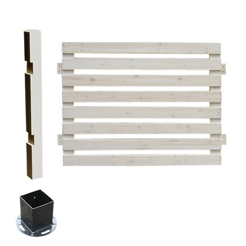 フェンス 木製 ホワイト ボーダーフェンス スプレッド(連結セット/平地用) SFBF1000E-HB-WHT ※北海道+5500円