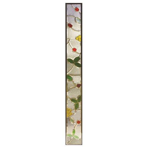 ステンドグラス (SH-J05) 1625×177×20mm デザイン 小花 ピュアグラス Jサイズ (約10kg) ※代引不可