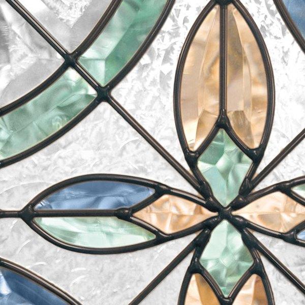 ステンドグラス (SH-E14) 300×300×18mm デザイン ピュアグラス (約3kg) ※代引不可