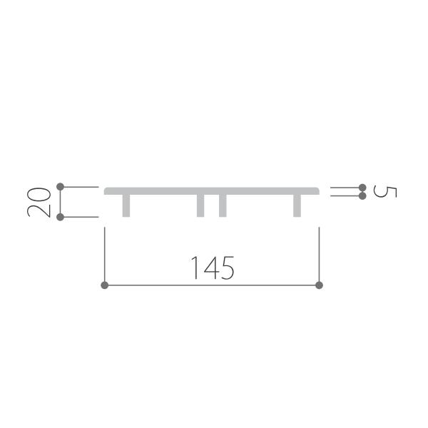 Kankyo-wood-�/床材用キャップ 25×145 MKV13.14.22用(1個)MKV-CAP-145-20