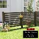 フェンス 木製 ダークブラウン ボーダーフェンス スプレッド(連結セット/土中用) SFBF1000E-UB-DBR ※北海道+5500円