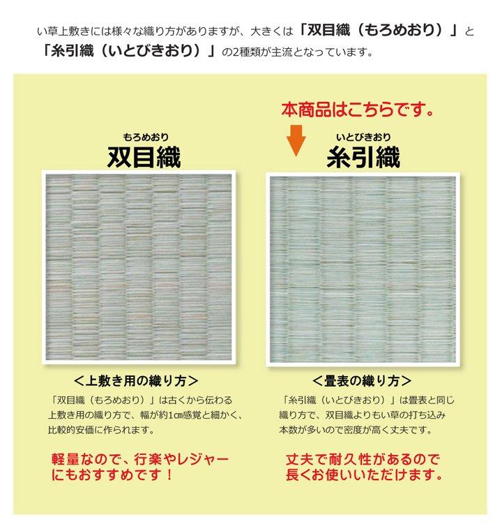 上敷き 4.5畳 湯沢 三六間4.5畳 (273×273cm) い草 ラグ 国産 (1102744)