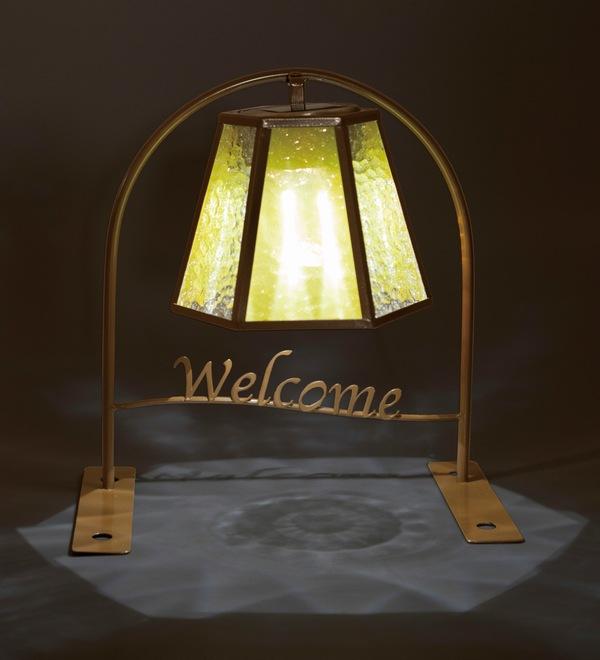ソーラーライト ウエルカムソーラー(ステンドグラス)スクエア (SI-2921-550) LED