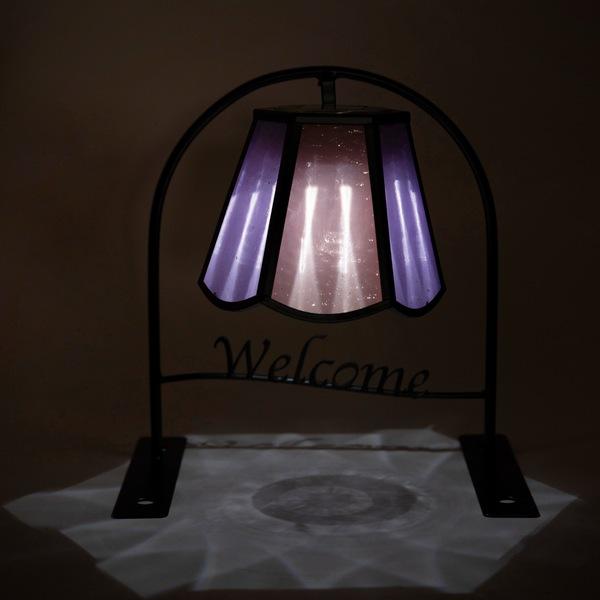 ソーラーライト ウエルカムソーラー (ステンドグラス) ウェーブ (SI-2922-550) LED