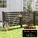 フェンス 木製 ダークブラウン ボーダーフェンス スプレッド(基本セット/平地用) SFBF1000F-HB-DBR ※北海道+5500円