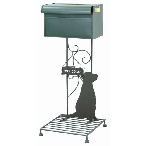 スタンドポスト 郵便ポスト 『シルエットポスト(ドッグ)wait』 (SI-1500-2300) メールボックス 犬