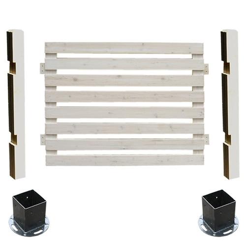 フェンス 木製 ホワイト ボーダーフェンス スプレッド(基本セット/平地用) SFBF1000F-HB-WHT ※北海道+5500円