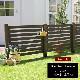 フェンス 木製 ダークブラウン ボーダーフェンス スプレッド(基本セット/土中用) SFBF1000F-UB-DBR ※北海道+5500円