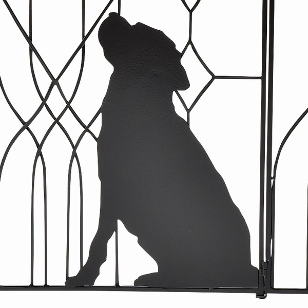 フェンス パーテーション 最大幅157.5cm シルエットゲート(wait) ブラック (SI-1959-1300) 犬 仕切り
