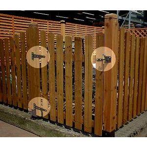 フェンス 固定金具 ゲート金具セット LV-G4P ※北海道+1100円