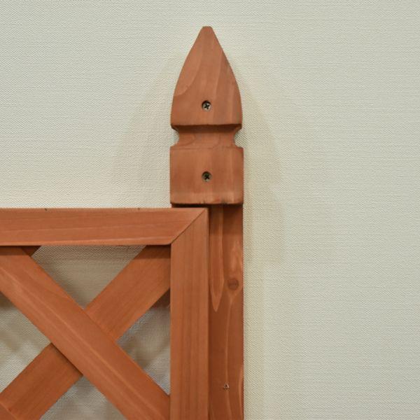 支柱 フェンス支柱 60×60×1650mm ブラウン 単品 木製 フェンスパネル受け加工 飾り ポール