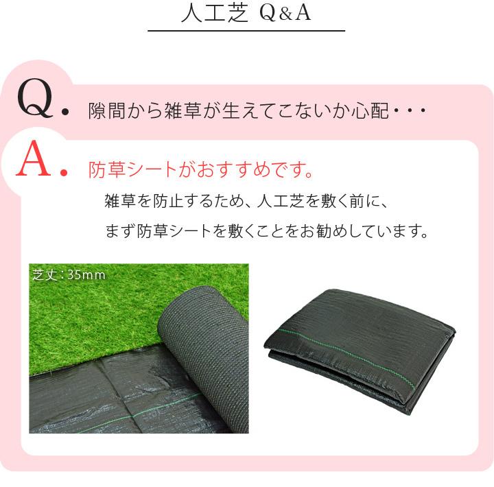人工芝 パークシア シンプル 芝丈 20mm (サイズ1×10m)  U字ピン16本