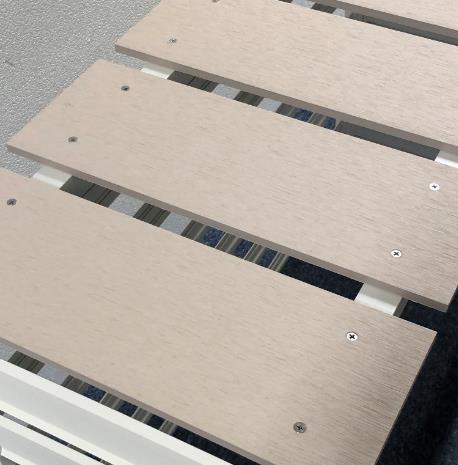 室外機カバー 幅90cm 人工木アルミ室外機カバー4型 ホワイト 分割型 aks-38067