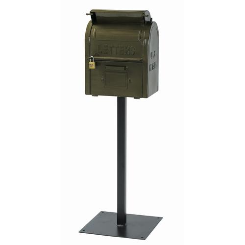 スタンドポスト 『U.S.MAIL BOX』 グリーン (SI-2855-GR-3000) 南京錠付き