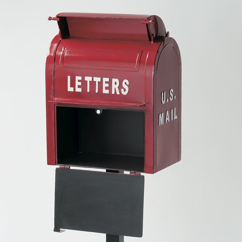 スタンドポスト 『U.S.MAIL BOX』 レッド (SI-2855-RD-3000) 南京錠付き アメリカン ヴィンテージ風 メールボックス