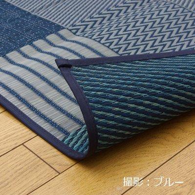上敷き 花ござ 京刺子 江戸間8畳 (348×352cm) い草 ラグ カーペット 国産