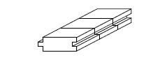オーク ナラ フローリング 【床暖対応】 ユニ 無塗装 15×75×1818mm 【1ケース 1.636平米/12枚】